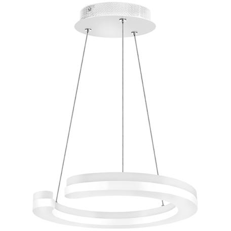 Подвесной светодиодный светильник Lightstar Unitario 763236, IP40, LED 24W 3000K 2640lm, белый, металл, металл с пластиком