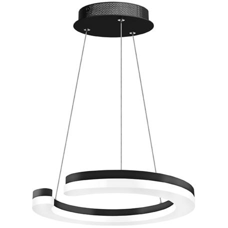 Подвесной светодиодный светильник Lightstar Unitario 763237, IP40, LED 24W 3000K 2640lm, черный, черно-белый, металл, металл с пластиком