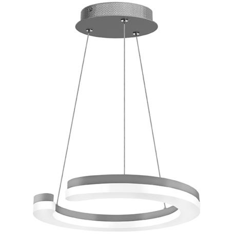 Подвесной светодиодный светильник Lightstar Unitario 763239, IP40, LED 24W 3000K 2640lm, серебро, белый, металл, металл с пластиком