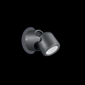 Настенный светильник Ideal Lux XENO AP1 NERO 129464, IP44, 1xGU10x28W, черный, металл, стекло