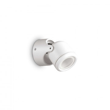 Настенный светильник с регулировкой направления света Ideal Lux XENO AP1 BIANCO 129488, IP44, 1xGU10x28W, белый, металл, стекло