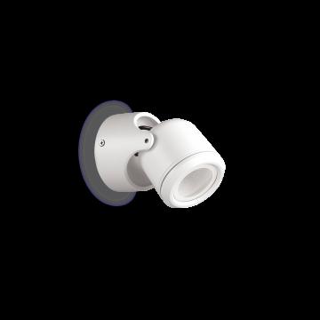 Настенный светильник Ideal Lux XENO AP1 BIANCO 129488, IP44, 1xGU10x28W, белый, металл, стекло