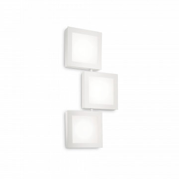 Потолочный светильник Ideal Lux UNION AP3 142203, 3xGX53x15W, белый, металл, стекло