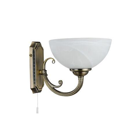Бра Freya Herbert FR2012-WL-01-BZ (fr1012-01-r), 1xE27x60W, бронза, белый, металл, стекло