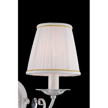 Бра Freya Bianchi FR2307-WL-01-WG (FR307-01-W), 1xE14x40W, белый с золотой патиной с прозрачным, белый с матовым золотом, металл со стеклом, текстиль - миниатюра 6