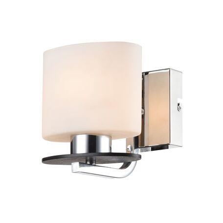 Бра Freya Bice FR5101-WL-01-CN (fr101-01-n), 1xE14x40W, хром, черный, белый, металл, стекло