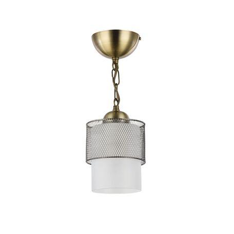 Подвесной светильник Freya Ornella FR2201-PL-01-BZ (fr201-11-r), 1xE27x60W, бронза, металл, металл со стеклом/пластиком