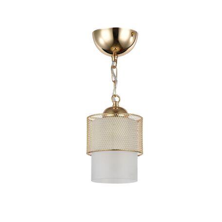Подвесной светильник Freya Ornella FR2201-PL-01-G (fr201-11-g), 1xE27x60W, золото, металл, металл со стеклом/пластиком