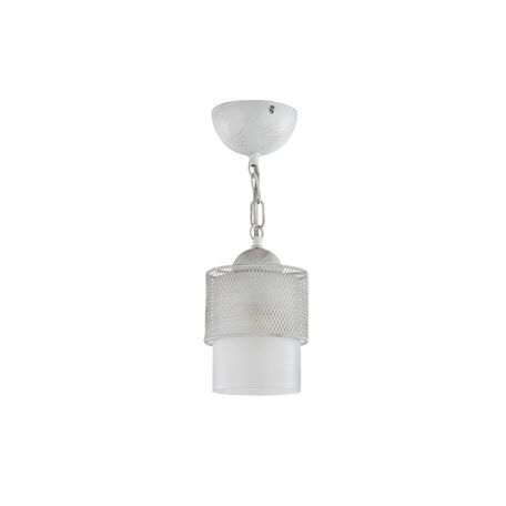 Подвесной светильник Freya Ornella FR2201-PL-01-WG (fr201-11-w), 1xE27x60W, белый, металл, металл со стеклом/пластиком - миниатюра 1
