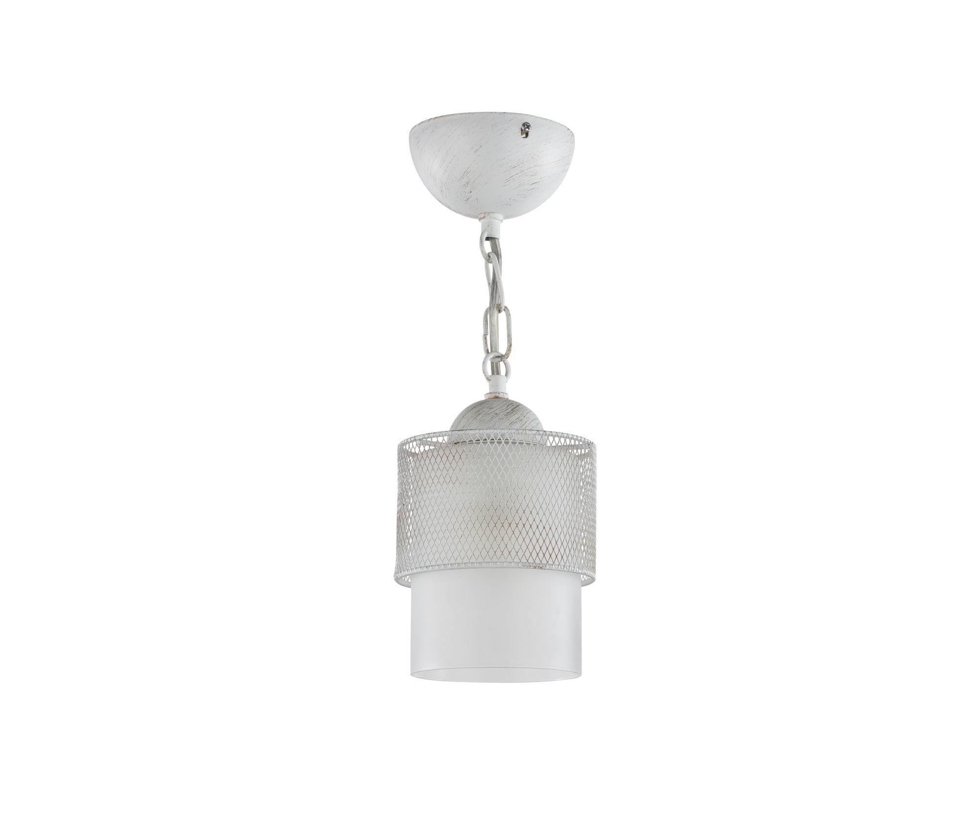 Подвесной светильник Freya Ornella FR2201-PL-01-WG (fr201-11-w), 1xE27x60W, белый, металл, металл со стеклом/пластиком - фото 1