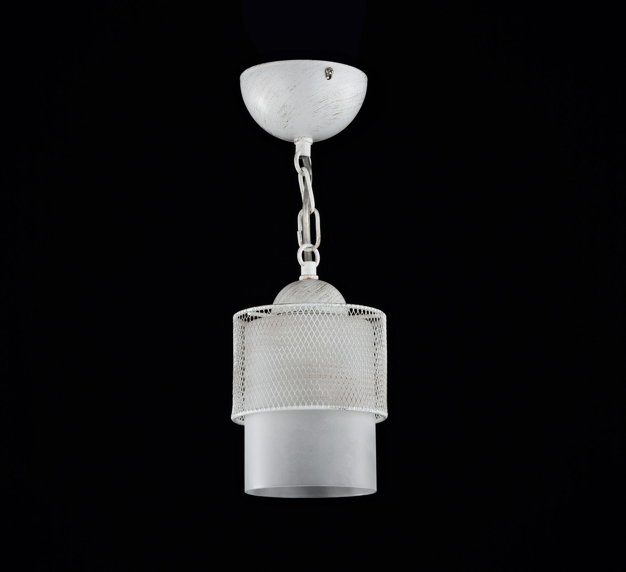 Подвесной светильник Freya Ornella FR2201-PL-01-WG (fr201-11-w), 1xE27x60W, белый, металл, металл со стеклом/пластиком - фото 2