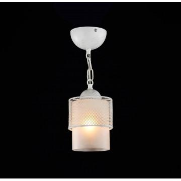 Подвесной светильник Freya Ornella FR2201-PL-01-WG (fr201-11-w), 1xE27x60W, белый, металл, металл со стеклом/пластиком - миниатюра 3