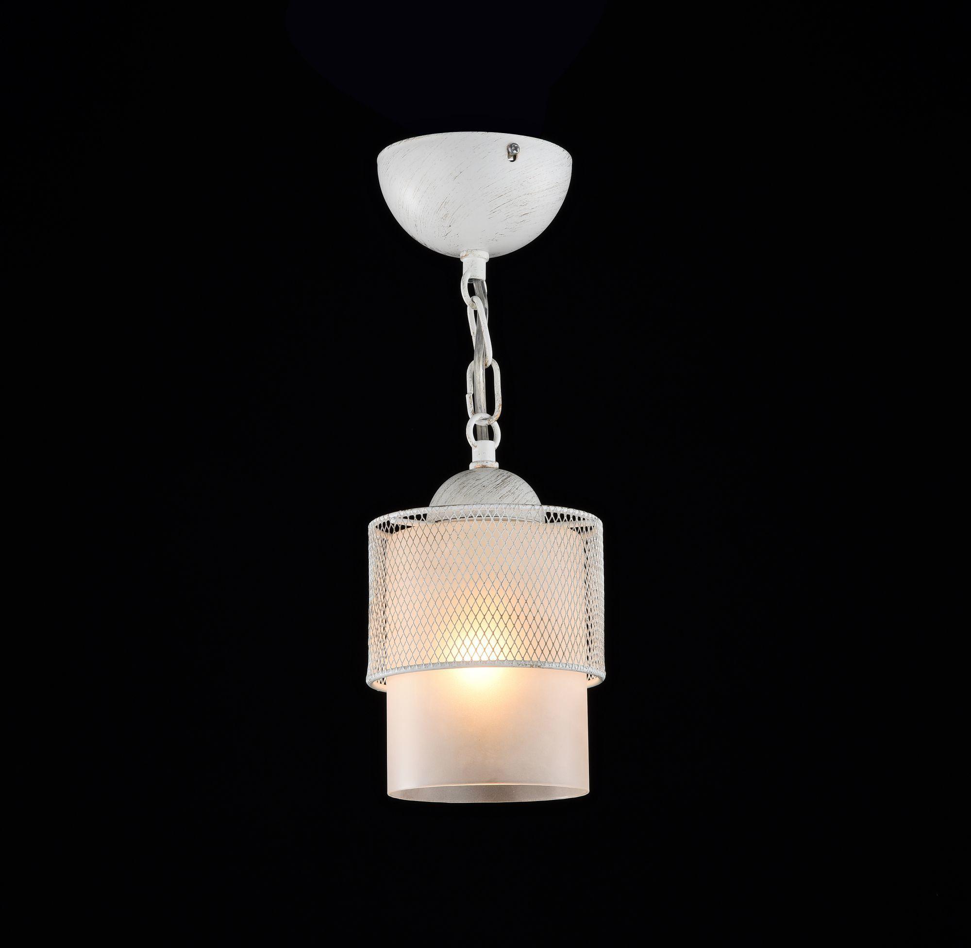 Подвесной светильник Freya Ornella FR2201-PL-01-WG (fr201-11-w), 1xE27x60W, белый, металл, металл со стеклом/пластиком - фото 3