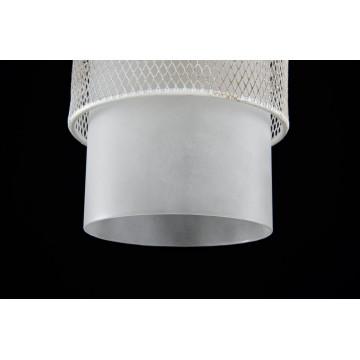 Подвесной светильник Freya Ornella FR2201-PL-01-WG (fr201-11-w), 1xE27x60W, белый, металл, металл со стеклом/пластиком - миниатюра 4