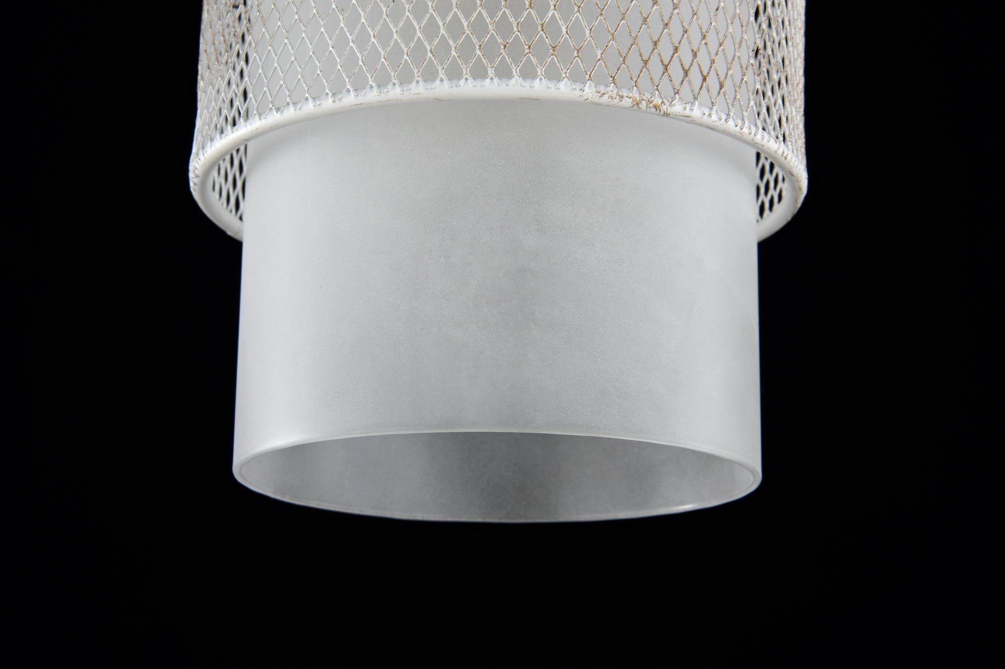 Подвесной светильник Freya Ornella FR2201-PL-01-WG (fr201-11-w), 1xE27x60W, белый, металл, металл со стеклом/пластиком - фото 4