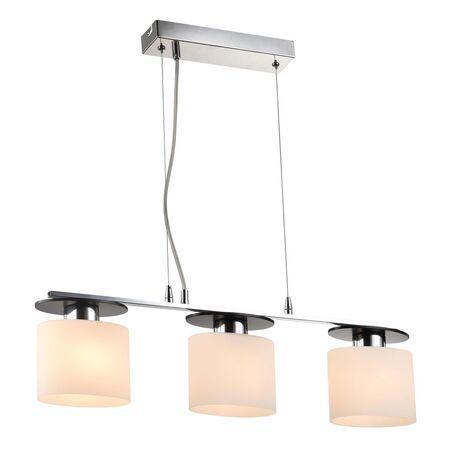 Подвесной светильник Freya Bice FR5101-PL-33-CN (fr101-33-n), 3xE14x40W, хром, черный, белый, металл, стекло