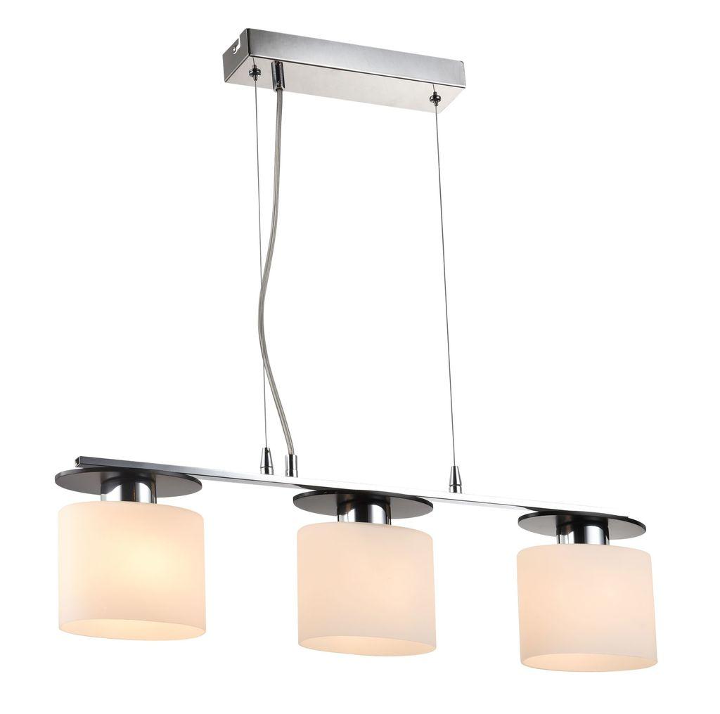 Подвесной светильник Freya Bice FR5101-PL-33-CN (fr101-33-n), 3xE14x40W, хром, черный, белый, металл, стекло - фото 1