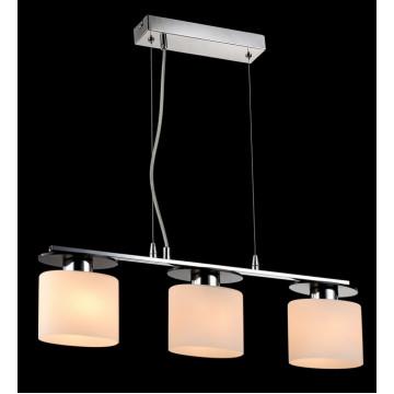 Подвесной светильник Freya Bice FR5101-PL-33-CN (fr101-33-n), 3xE14x40W, хром, черный, белый, металл, стекло - миниатюра 2