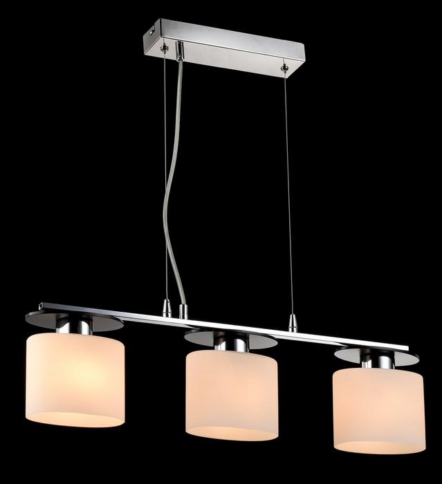 Подвесной светильник Freya Bice FR5101-PL-33-CN (fr101-33-n), 3xE14x40W, хром, черный, белый, металл, стекло - фото 2