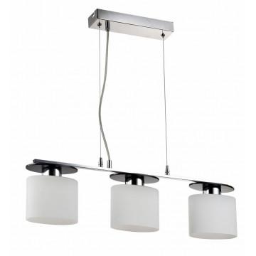 Подвесной светильник Freya Bice FR5101-PL-33-CN (fr101-33-n), 3xE14x40W, хром, черный, белый, металл, стекло - миниатюра 3