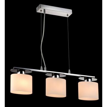 Подвесной светильник Freya Bice FR5101-PL-33-CN (fr101-33-n), 3xE14x40W, хром, черный, белый, металл, стекло - миниатюра 4