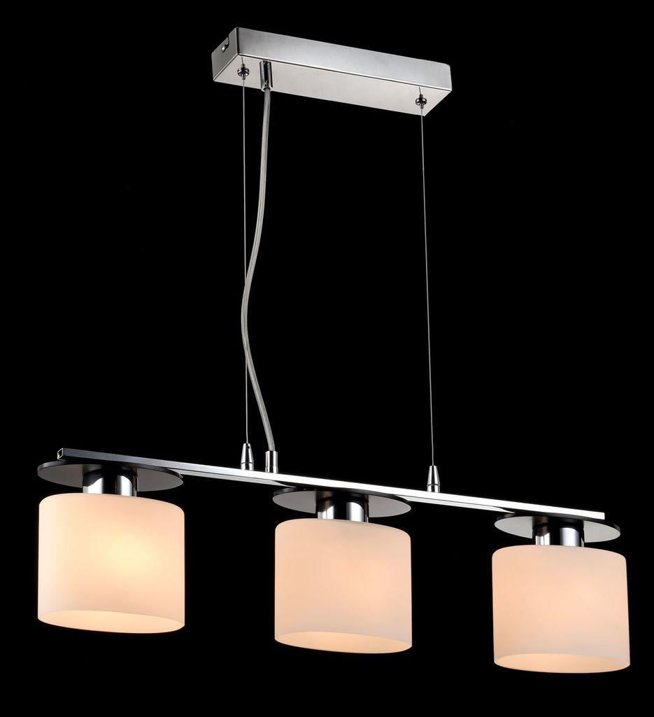 Подвесной светильник Freya Bice FR5101-PL-33-CN (fr101-33-n), 3xE14x40W, хром, черный, белый, металл, стекло - фото 4