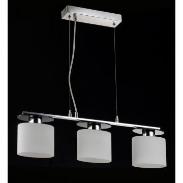 Подвесной светильник Freya Bice FR5101-PL-33-CN (fr101-33-n), 3xE14x40W, хром, черный, белый, металл, стекло - миниатюра 5