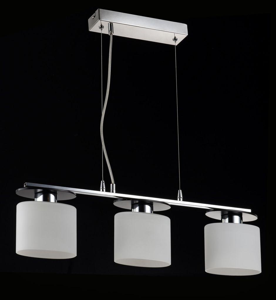 Подвесной светильник Freya Bice FR5101-PL-33-CN (fr101-33-n), 3xE14x40W, хром, черный, белый, металл, стекло - фото 5