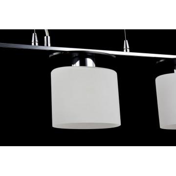 Подвесной светильник Freya Bice FR5101-PL-33-CN (fr101-33-n), 3xE14x40W, хром, черный, белый, металл, стекло - миниатюра 7