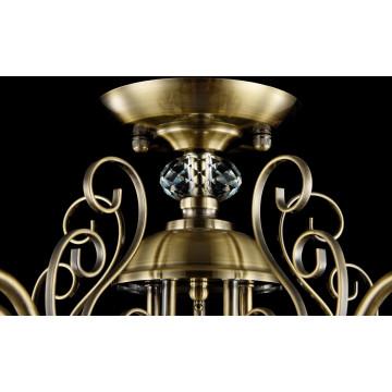 Потолочно-подвесная люстра Freya Classic Driana FR2405-PL-03-BZ (FR405-03-R), 3xE14x40W, бронза с прозрачным, прозрачный с бронзой, прозрачный, металл с хрусталем, текстиль, хрусталь - миниатюра 5