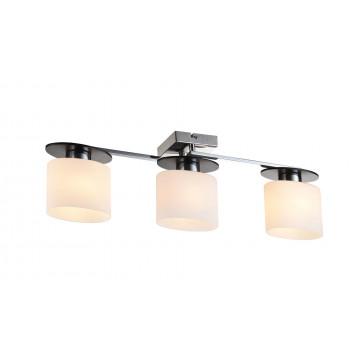 Потолочный светильник Freya Bice FR5101-CL-03-CN (fr101-03-n), 3xE14x40W, хром, черный, белый, металл, стекло