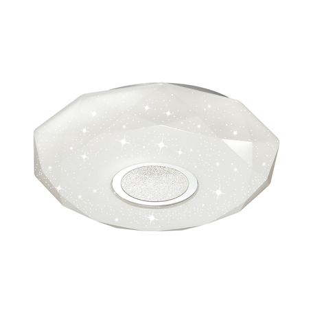 Потолочный светодиодный светильник Sonex Prisa 2057/CL, IP43, LED 24W, 3800K (дневной), белый, прозрачный, хром, металл, пластик - миниатюра 1