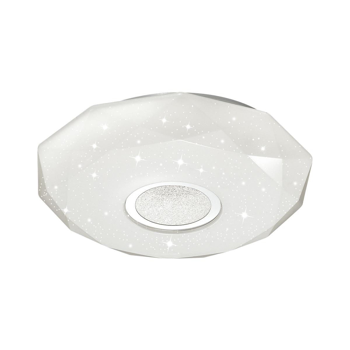 Потолочный светодиодный светильник Sonex Prisa 2057/CL, IP43, LED 24W, 3800K (дневной), белый, прозрачный, хром, металл, пластик - фото 1