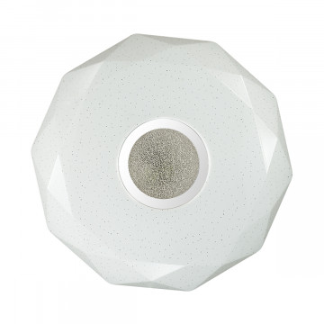 Потолочный светодиодный светильник Sonex Prisa 2057/CL, IP43, LED 24W, 3800K (дневной), белый, прозрачный, хром, металл, пластик - миниатюра 3