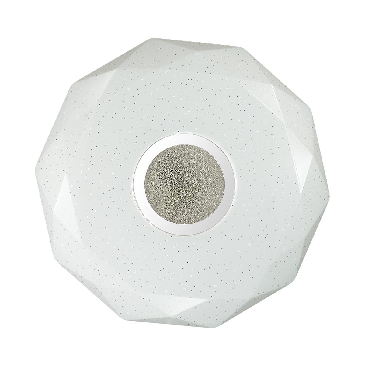 Потолочный светодиодный светильник Sonex Prisa 2057/CL, IP43, LED 24W, 3800K (дневной), белый, прозрачный, хром, металл, пластик - фото 3