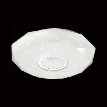 Потолочный светодиодный светильник Sonex Prisa 2057/CL, IP43, LED 24W, 3800K (дневной), белый, прозрачный, хром, металл, пластик - миниатюра 4