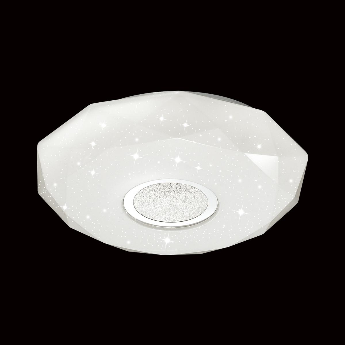Потолочный светодиодный светильник Sonex Prisa 2057/CL, IP43, LED 24W, 3800K (дневной), белый, прозрачный, хром, металл, пластик - фото 4