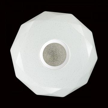 Потолочный светодиодный светильник Sonex Prisa 2057/CL, IP43, LED 24W, 3800K (дневной), белый, прозрачный, хром, металл, пластик - миниатюра 6