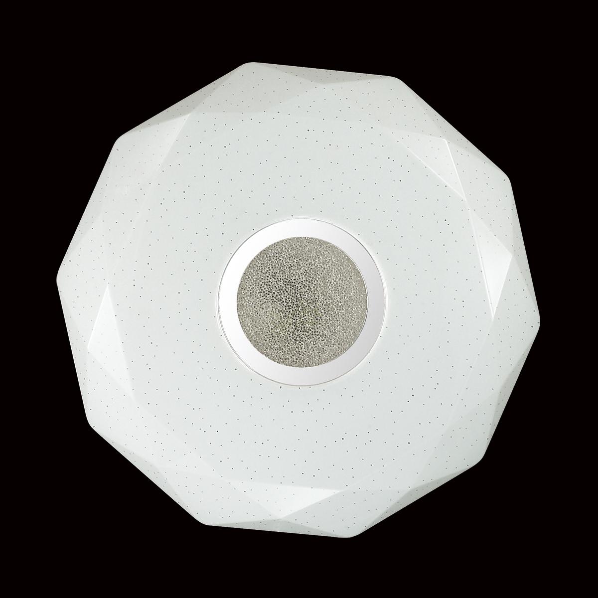 Потолочный светодиодный светильник Sonex Prisa 2057/CL, IP43, LED 24W, 3800K (дневной), белый, прозрачный, хром, металл, пластик - фото 6