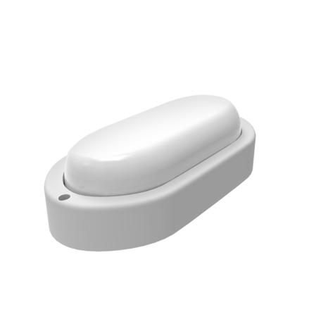 Настенный светодиодный светильник Gauss Eco 161411312, IP65, LED 12W 6500K 980lm, белый, пластик