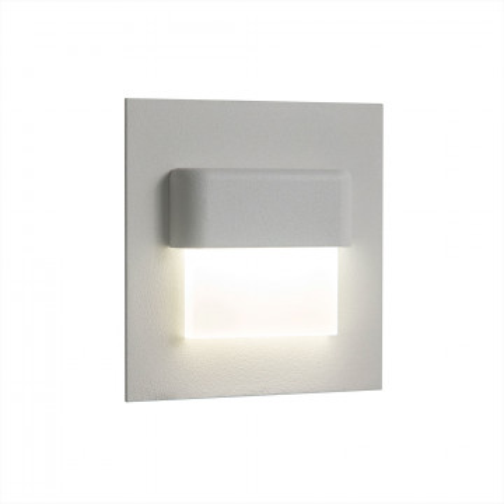 Встраиваемый настенный светодиодный светильник Citilux Скалли CLD006K0, LED 1W, 3000K (теплый), белый, металл, пластик