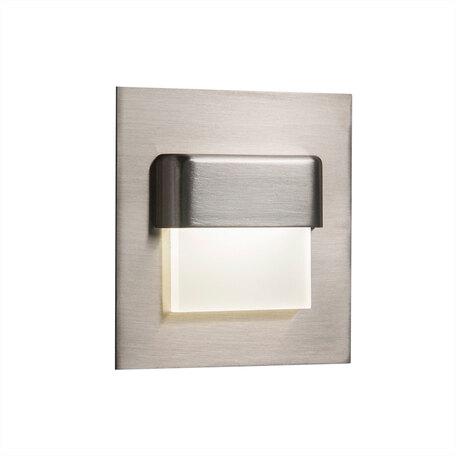 Встраиваемый настенный светодиодный светильник Citilux Скалли CLD006K1, LED 1W, 3000K (теплый), белый, хром, металл, пластик