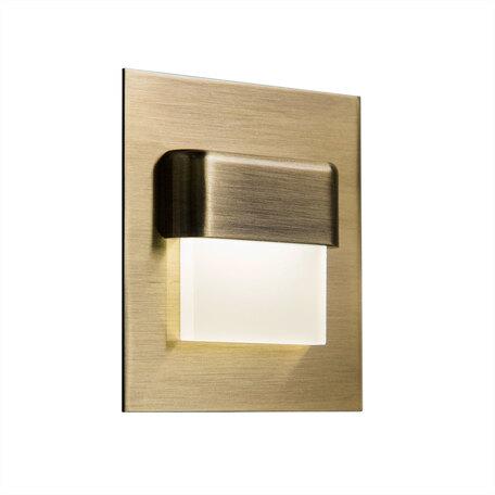 Встраиваемый настенный светодиодный светильник Citilux Скалли CLD006K3, LED 1W, 3000K (теплый), белый, бронза, металл, пластик