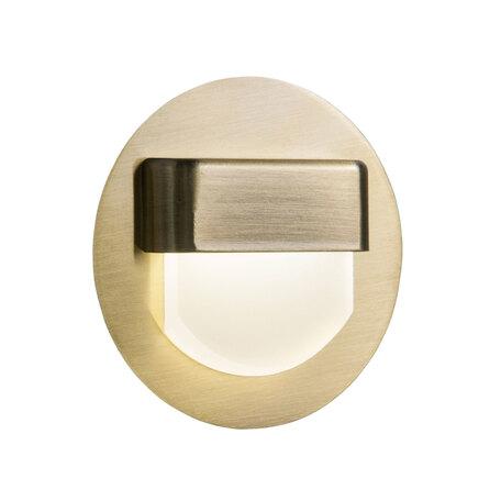 Встраиваемый настенный светодиодный светильник Citilux Скалли CLD006R3, LED 1W 3000K, белый, бронза, металл, пластик