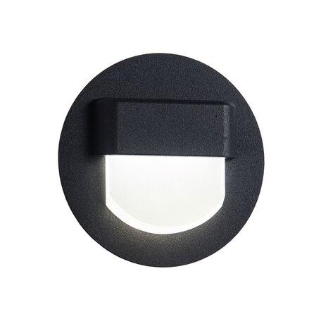 Встраиваемый настенный светодиодный светильник Citilux Скалли CLD006R5, LED 1W 3000K, белый, черный, металл, пластик
