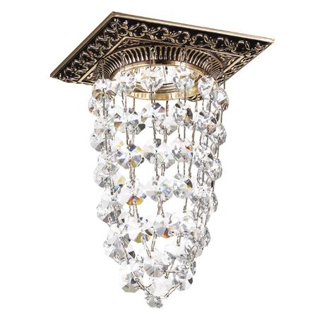 Встраиваемый светильник Novotech Grape 369995, 1xGU5.3x50W, золото, коричневый, прозрачный, металл, хрусталь