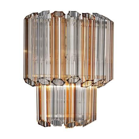 Бра Crystal Lux AMADO AP2 0100/402, 2xE14x60W, золото, янтарь, металл, стекло