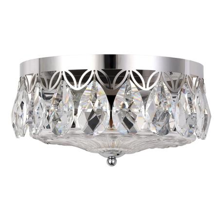 Бра Crystal Lux CANARIA AP2 NICKEL 1311/402, 2xE14x60W, никель, прозрачный, металл, стекло, хрусталь
