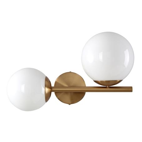 Бра Crystal Lux FELIZ AP2 BRONZE/WHITE 0610/402, 2xE27x60W, бронза, белый, металл, стекло