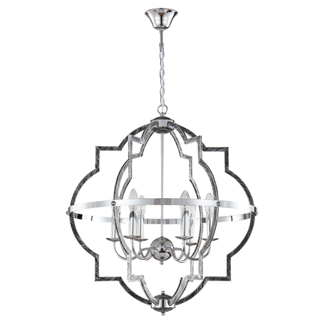 Подвесная люстра Crystal Lux FELIPE SP6 0600/306, 6xE14x60W, хром, черный, металл